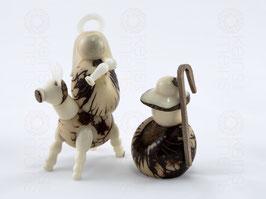 Tagua-Figuren MARIA & JOSEF