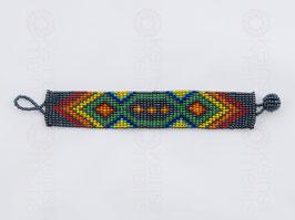 Chaquira-Armband SILBER