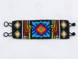 Chaquira-Armband SONNE SCHWARZ