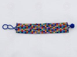 Chaquira-Armband BUNTE QUADRATE