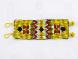 Chaquira-Armband ORNAMENT GELB