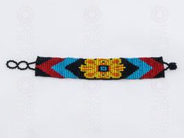 Chaquira-Armband GELBE BLUME