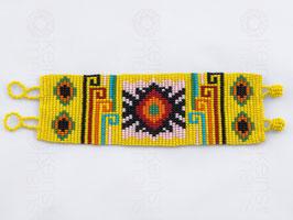 Chaquira-Armband SONNE GELB