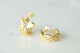 LOU Hoop Stud Earrings