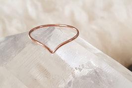 LIA Chevron Ring rosé
