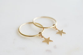 TWINKLE STAR Hoop Earrings