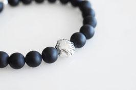 SHELL Bracelet mit Onyx