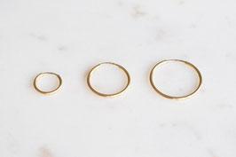 Simple Ear Hoops in gold
