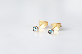 London Blue Topaz Ohrstecker in gold