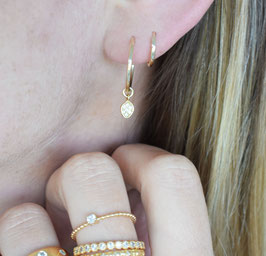 ALMA Ear Hoops in gold
