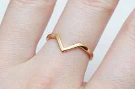 Chevron Ring in GOLD oder SILBER