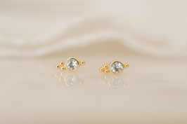 INDIRA Stud Earrings in gold
