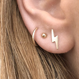 FLASH Stud Earrings 14k GF