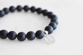 PEACE Bracelet mit Onyx