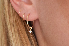 LENA Ear Hoops in gold