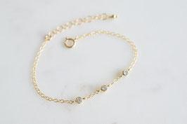 TRINITY Bracelet in Gold & Weiss (cz)