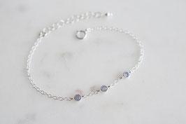 TRINITY Bracelet in Silber & Opalit (cz)