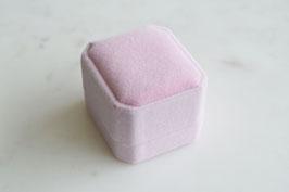 Ring Box Pink Velvet