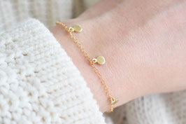 Disc Bracelet in gold