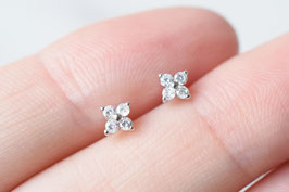 DAISY Stud Earrings in silber