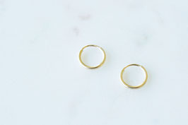 Mini Hoop Earrings in gold