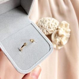 Ring Box Grey Velvet