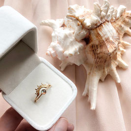 Ring Box White Velvet