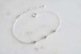 TRINITY Bracelet in Silber & Weiss (cz)
