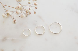 Simple Ear Hoops in silber