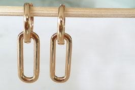 PETRA Chain Earhoops