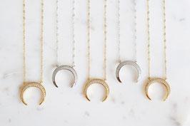 Horn Halskette mit Zirkonia