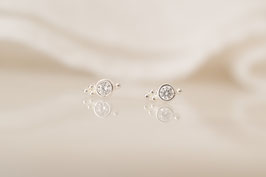 INDIRA Stud Earrings in silber