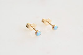 Little Gemmie Ohrstecker mit Blue Opal (3mm)