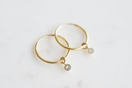 AMANDA Hoop Earrings in Gold