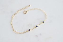 TRINITY Bracelet in Gold & Blau