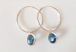 """Little Gemmie"" Hoop Earrings in Silber"