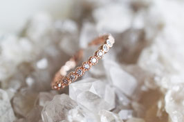 White Stones Alliance Ring in roségold