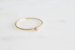 Mini Solitaire Ring mit Zirkoniastein (champagne)