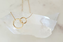 DORA Double Circle Halskette in gold