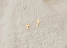 CROSS Stud Earrings 14k GF