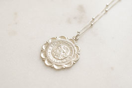Saint Christopher Medallion Necklace silber