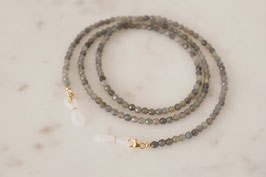 VALERIA Sunglasses/Mask Necklace mit Labradorit