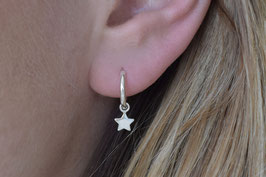 Star Hoop Earrings in silber