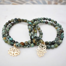 African Turquoise Beaded Bracelet