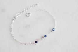 TRINITY Bracelet in Silber & Blau (cz)