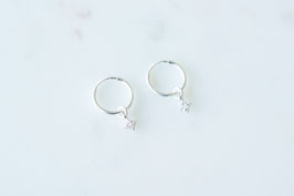 LENA Hoop Earrings in silber