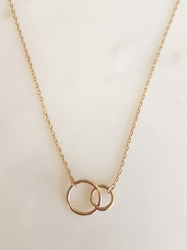 JULES Double Circle Halskette in gold