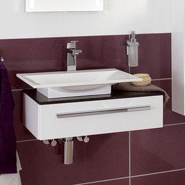 Laguna - Platino Gästebad 2.0 Waschtisch-Set mit Qsolid-Abdeckplatte