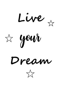 Live your dream (Postkarte)