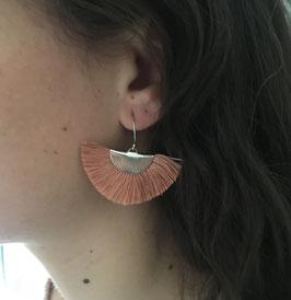 Boucles d'oreilles Eventail demi-lune Sienne